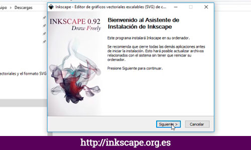 PASO 2: Instalar Inkscape para Windows